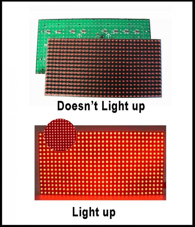 Module ROUGE des pixels 32*16 P10 LED des modules 320*160mm de l'IMMERSION LED du panneau P10 de Semioutdoor LED