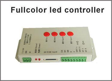 Contrôleur polychrome T-1000S de 5V-24V LED pour des éclairages polychromes de LED de la bande polychrome polychrome LED du pixel LED