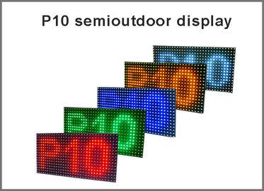 le panneau d'affichage mené par module de l'affichage 320*160 32*16 de 5V P10 P10 a mené le blanc jaune vert-bleu rouge de signage léger de la publicité