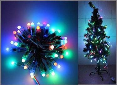 décoration accessible numérique d'arbre de Noël de ficelle LED de partie de 5V de pixels polychromes de la lumière 50PCS 1903IC RVB 12mm