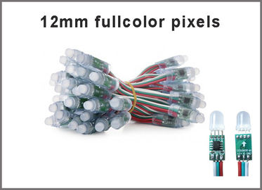 12mm 1903 a mené les signes de publicité colorchanging légers polychromes de la lumière RVB LED de streep de pixel