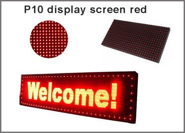 5V P10 a mené le signage rouge de publicité du semioutdoor 320*160 d'écran de visualisation d'éclairages de module de panneau
